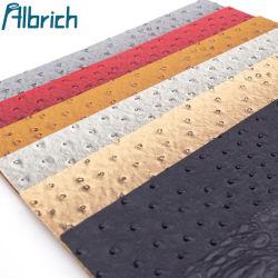La imitación de patrón de avestruz cuero de cocodrilo de PVC de tela para hacer Bolsos Zapatos...