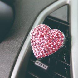 Luftauslass-Klipp-Legierungs-Miniauto-Duftstoff mit rosafarbener Inner-Form für Mädchen-Geschenk