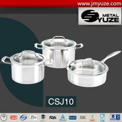 Edelstahl6pcs Cookware, Stockpot und Kasserolle-Set, Küche-Geräte, Glaskappe