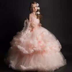 فتاة مخصصة pageant فساتين فساتين زهرة فتاة اللباس حبيبات كرة Gown F1925