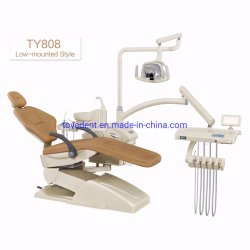 Cer u. ISO-anerkanntes buntes zahnmedizinisches Stuhl-Luxuxgerät mit LED-heller Fühler-Lampe