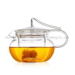 100% ハンドメイド大容量透明ガラス製ティーセット耐熱性 ガラス茶鍋とインフォユーザー
