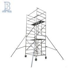 De openlucht Toren van de Steiger van de Ladder van het Aluminium van het Onderhoud van de Hoge Hoogte Mobiele Rechte