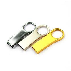 محرك أقراص USB معدني صغير شعبي محرك أقراص USB محمول سعة 16 جيجابايت USB عصا شعار OEM مخصص بطاقات ذاكرة USB محرك الأقراص