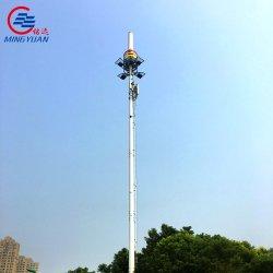 Q235 Q345 heißes BAD-galvanisierter G-/Machteckiger Stahlbeweglicher Aufsatz-Telekommunikationsfernsehturm mit Lampe
