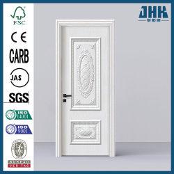純木の内部の現代単一のドアのチークは設計するプラスチック(JHK-W002)を