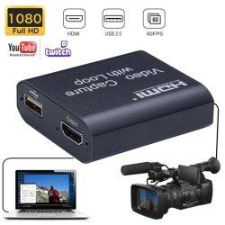 Carte de capture vidéo HDMI USB 2.0 d'enregistrement de l'écran 1080p Périphérique de capture de jeu de banderoles