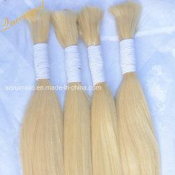Micro tressage des cheveux vierges Bundle droites ondulées blonde Extensions de cheveux humains en vrac brésilien