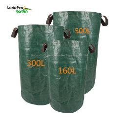 3pcs Sac jardin+500+300160L L L - sacs réutilisables de feuilles de jardinage pliable de conteneurs pour pelouse et les résidus de jardinage