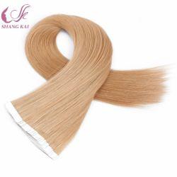 Vente chaude tout droit de la peau de PU trame sèche pour l'Invisible Bande brésilien hair extension
