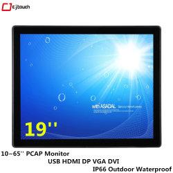 شاشة لمس الإطار المفتوح مقاس 19 بوصة مزودة بشاشة تعمل بالأشعة تحت الحمراء مقاومة للماء PCAP شاشة سعوية إعلان شاشة تلفزيون Android ذكية