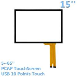 Écran tactile Cjtouch 15pouces capacitif POS Pacp Kiosque Touchpanels pour moniteur