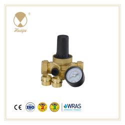 Latão Heape levar a água livre Válvula Redutora de Pressão com o manômetro para tubo