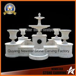 La sculpture en marbre de sculpture sur pierre fontaine de jardin avec un semoir Pot d'avancement de la décoration d'accueil