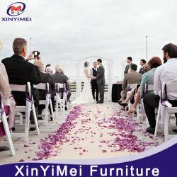 Продажи с возможностью горячей замены для общего использования полимера из красного дерева Складной стул для события
