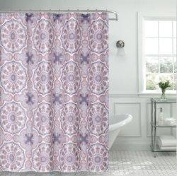 La vente de linge de maison et de polyester à chaud de rideau de douche