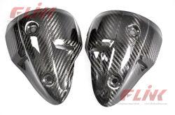 Couverture de garde de silencieux de fibre de carbone pour le monstre 696 de Ducati