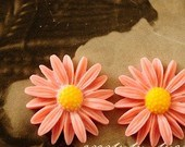Flor de resina Cabochons plana