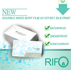 Традиционные Версия для печати белые BOPP, синтетические бумаги в обычных чернил Версия для печати