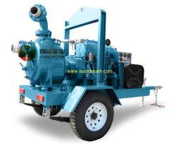 مجموعة مضخة مياه الديزل المُثبَّتة للانزلاق مع مقطورة ذات 4 عجلات