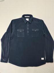 Outdoor Sport Abbigliamento caldo Tactical Fleece camicia Softshell da uomo spesso Camicie nere
