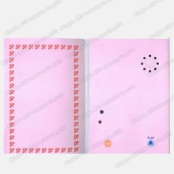 音楽的な挨拶状、郵便はがき、挨拶状、声の印刷のカード