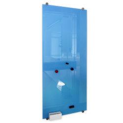 Couleur blanc en verre trempé carte magnétique avec des aimants