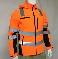 Ropa Ropa de trabajo reflectante de seguridad fluorescente naranja chaqueta Softshell