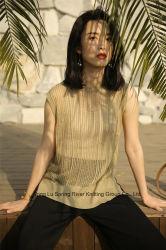 Abbigliamento moda donna in maglia senza maniche Tencel/Rayon/ramie