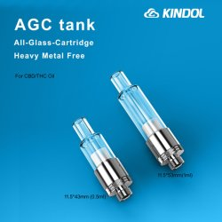 Commerce de gros 510 Réservoir de la CDB de verre E cigarette Cartomizer Jook Cbd cartouche jetable