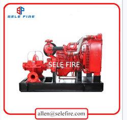 UL/FM перечислены пожарных оборудования с приводом от дизельного двигателя Split случае центробежный насос пожаротушения, двойной огонь всасывания насоса
