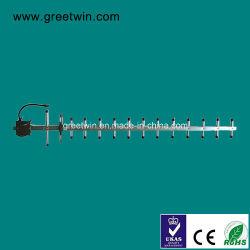900 MHz+180012dBi Antena Yagi direccional /GSM+Dcs Antena Yagi (GW-YAGI900-1800-12D)