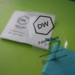 La coutume en vinyle PVC adhésif transparent des étiquettes autocollantes avec une encre noire de l'impression