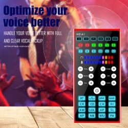 Портативные звуковые карты караоке в режиме реального времени с аудио кабель USB-кабель для сопровождения Универсальный телефон компьютера звуковые эффекты