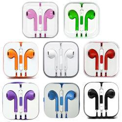 Farbenfrohe Ohrhörer mit Lautstärkeregler-Mikrofon für iPhone5/5s