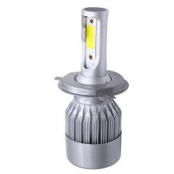 2X carro farol LED branco C6 H1 H3 H4 H7 H11 Hb3 9005 Hb4 9006 COB 72W 7600lm frente a lâmpada de nevoeiro automático dos faróis de automóveis DRL 6500K