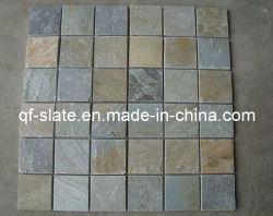 Mosaico coltivato naturale dell'ardesia per la pietra del rivestimento della parete