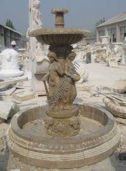 Intérieur en extérieur en pierre fontaine en marbre avec Lady Sculpture (sy-F164)