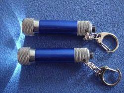Personalizzare torcia elettrica di Keychain dell'ABS di alluminio di marchio la mini