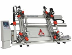 2 Jahre Garantie CNC vertikaler Vier-Punkt Eckquetschverbindenmaschinen-