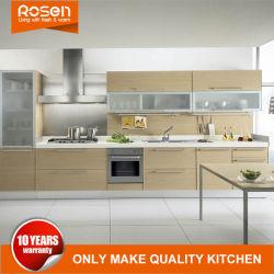 Home используется простая конструкция MDF Деревянные зерна меламина кухонным шкафом