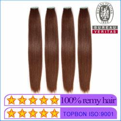 [هومن هير] عذراء شعر مادّيّة [هيغقوليتي] [بروون] لون [18ينش] شريط شعر إمتدادات ريمي شعر