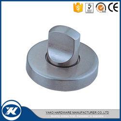 Wc en acier inoxydable de serrure de porte en verre avec le bouton Indicateur