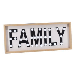 A fábrica de vendas quente família MDF decorativas Carta LED acende