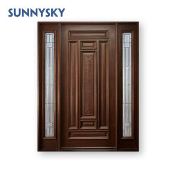 Vidro corrediço de teca clássico grande porta de madeira do Qatar sólidos de madeira
