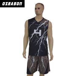 Fabricante de vestuário de basquetebol de Sublimação Reversível Personalizado Jersey (BK002)
