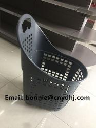 Armazenar Mall duas pegas de plástico da cesta de compras de supermercado Carrinho