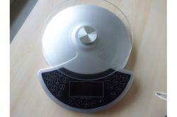 Corps de l'échelle de pesage à fonctionnement LCD numérique Échelle Échelle de la salle de bains de verre rondes