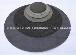 Rete metallica del nero del tessuto normale per l'espulsore di plastica