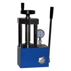 Prensa hidráulica eléctrica para las baterías con doble pantalla de escala de manómetro de agujas